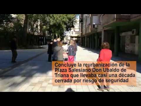 Triana estrena diez años después la nueva plaza Salesiano Don Ubaldo