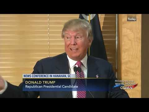 Press Conference: Donald Trump Speaks to Reporters in Hanahan, South Carolina - February 15, 2016