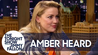 Amber Heard and Jimmy Take the Aquaman Spicy Bite Challenge