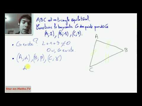 comment trouver le point g en maths