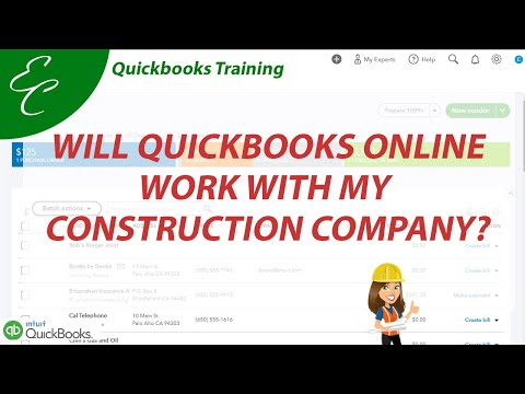 Will QuickBooks Online Work for My Construction Company