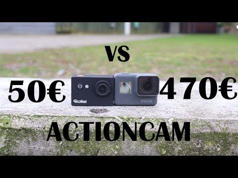 470€ vs 50€ ACTIONCAM | GoPro vs Rollei | DownhillSuchti