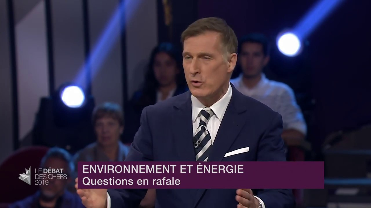 Maxime Bernier answers a question about why he