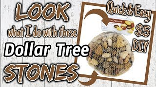 LOOK What I Do With These Dollar Tree STONES   $5 QUICK & EASY DIY