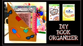 How To Make A Book Organizer! | Cereal Box Crafts For Kids | How To Make A Book Case | ZM Channel |
