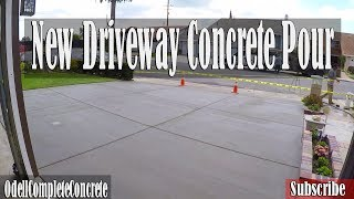 How To Pour A New Clean Concrete Driveway | Complete Tear Out!