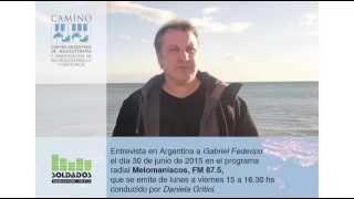 Entrevista Radio a Gabriel Federico en el programa Melomaníacos.