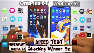 OnePlus 6t(Ram management issue) vs Asus Zenfone 5Z Speed Test | Giveaway ONEPLUS 6T