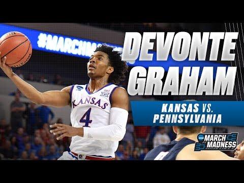 Kansas basketball: Devonte' Graham leads Jayhawks with 29 points against Penn