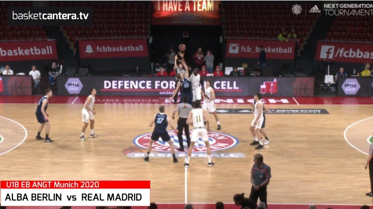 U18M - ALBA BERLIN vs REAL MADRID.- Euroleague. Adidas Next Generation Tournament (Munich 2020)