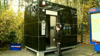 preview picture of video 'TVS Silesia Informacje 2013.10.15 Automatyczna gadająca Toaleta Publiczna WC TOP GRANIT BLACK'