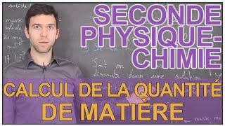Calcul de la quantité de matière - Physique-Chimie - Seconde - Les Bons Profs