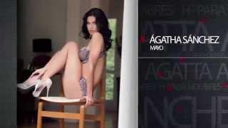 Ágatha Sánchez manda saludo a los lectores de Record, buscala en H para Hombres Mayo 2014