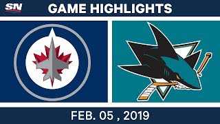 NHL Highlights | Sharks vs. Jets - Feb. 5, 2019