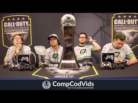 OpTic Gaming Interview After Winning COD CHAMPS 2017