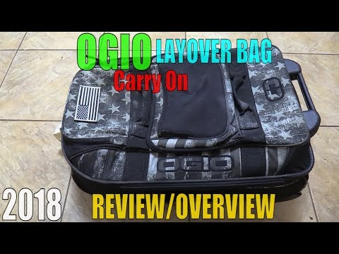 OGIO Layover BAG REVIEW Carry On Luggage Terminal Stealth 29 Rolling TRAVEL Gear OVERVIEW Video 2018