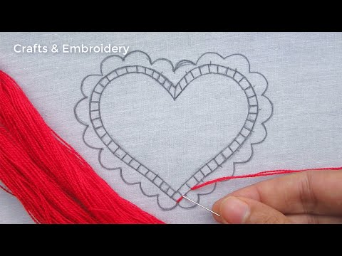 Easy Hand Embroidery, Latest Heart Embroidery Tutorial, Simple Love Embroidery Designs