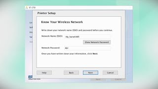 Epson Expression ET-2750   Wireless Setup Using the Control Panel
