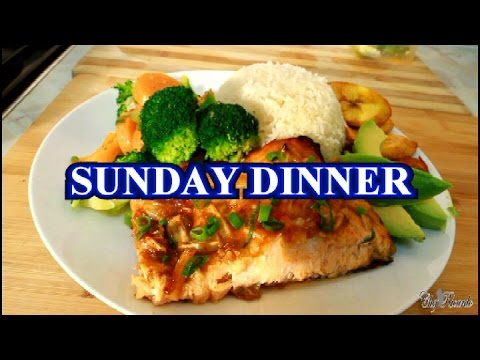 Sunday Dinner Oven Baked Salmon With Rice & Veg ( (Jamaican Chef) ) | Recipes By Chef Ricardo