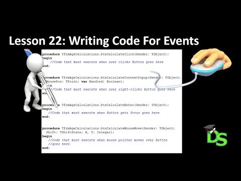 Delphi Programming Tutorial – Lesson 22: Writing Code For Events