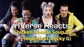 RIVerse Reacts: Chicken Noodle Soup By J Hope (feat. Becky G)   MV Reaction