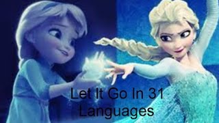 Disney Frozen's Let It Go Multilanguage In 31 Languages