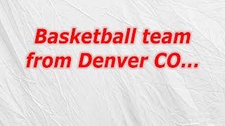 Basketball Team From Denver CO - CodyCross Crossword Answer