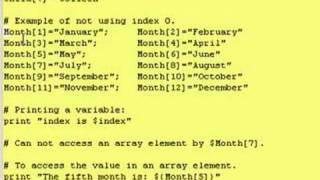 Intro To Korn Shell - Lesson 4 - A Little About Arrays/Lists