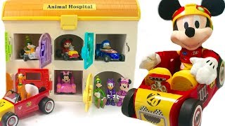 Mickey Mouse Roadster Racers in Animal Hospital with Magic Play Doh