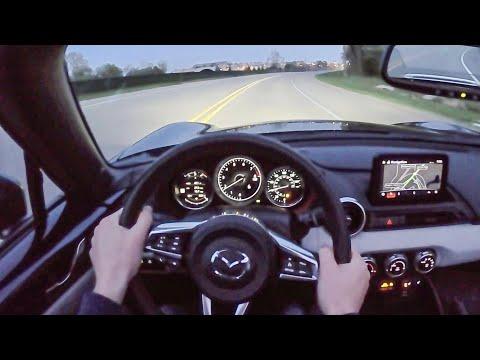 2021 Mazda Miata RF Grand Touring 6MT - POV Night Drive (Binaural Audio)