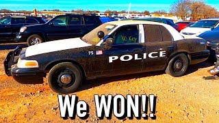 We Won a Copart $1250 2009 Ford Crown Vic Police Car with 62K Miles!!!