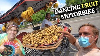 BecomingFilipino – DANCING FILIPINO FRUIT STORE – Best Motorbike Driver In The Philippines? (Panabo, Davao)