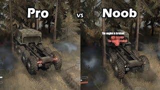 Spintires Mudrunner Pro vs Noob