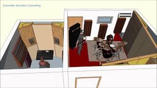 Pyrga Recording Studio Design, 3D model
