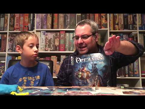 Oceanos Board Game Review!...with Justin and Max