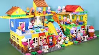 Peppa Pig Lego House With Water Slide Toys For Kids