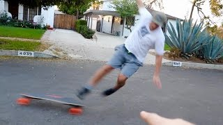 FLYING OFF A $1600 SKATEBOARD FAIL!!
