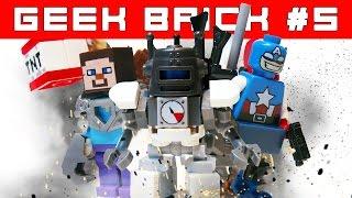 Minecraft и MARVEL LEGO-Самоделки: крутые фигурки + Контрольная закупка Geek Brick