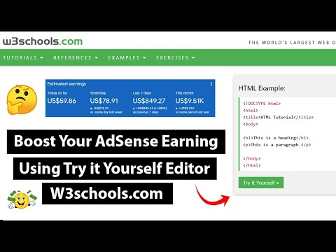 Boost Your AdSense Earning by Adding Try it Yourself Editor on WordPress Like W3schools