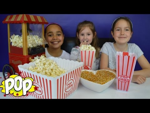 Vintage Popcorn Maker Cart | DIY - Homemade Yummy Popcorn - Kids Candy & Sweets Review