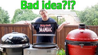 Weber Summit Charcoal Grill Vs Kamado Joe | Which Fits Gabby's Grills Santa Maria Accessory Best?