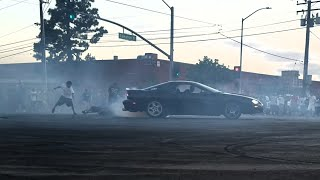 Camaro drifting and hitting donuts | Los Angeles takeover