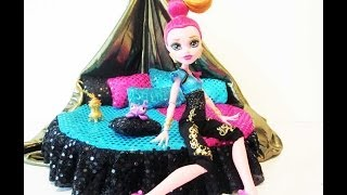 How To Make A Gigi Grant Doll Bed Tutorial/Monster High