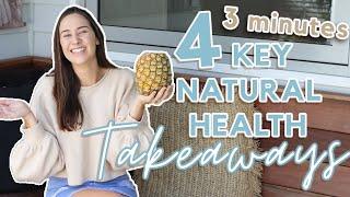 4 quick takeaways for BETTER HEALTH! (Live healthier, happier & Longer!)
