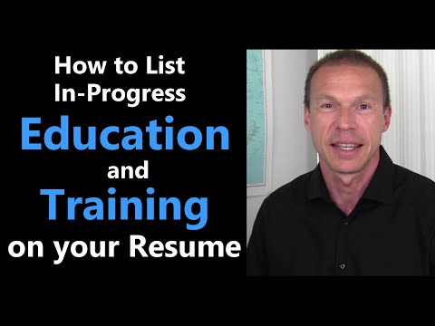How to list in-progress Education on Your Resume   Resume Tips ...