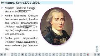 Eğitim Vadisi 11.Sınıf Felsefe 9.Föy 18.Yüzyıl - 19.Yüzyıl Felsefesi Konu Anlatım Videoları