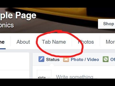 How to Rename Facebook App Button Tab on Facebook page
