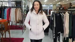 Vídeo Jaqueta Estofada Forro Apeluciado Safira Fashion Cor Preto - Tamanhos Grandes