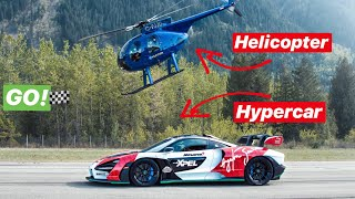 RACING A HELICOPTER WITH A MCLAREN HYPERCAR! *TOP SPEED...