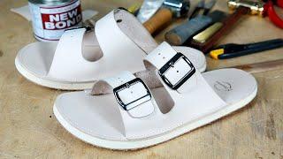 날씨가 더워진다!! 서둘러 슬리퍼를 만들자 / Making A Leather Sandals